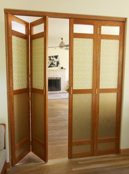 Double Cherry Bifolding Doors  Michael Yates Design