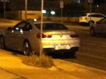 The car that backed in to John. He was trying to get into THIS spot. Go figure.