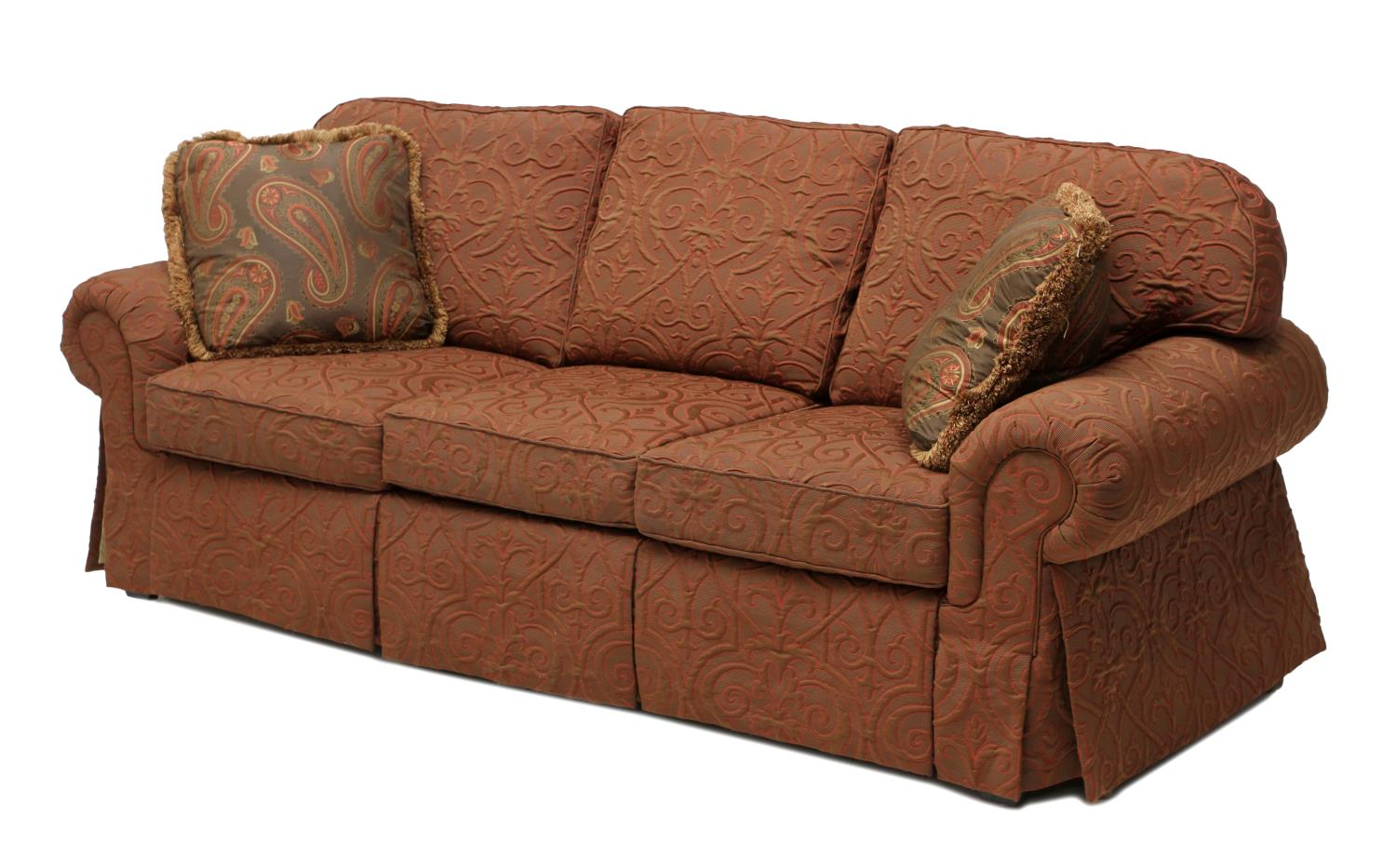 Big Sofa Christian Large Designer Three Cushion Sofa August Estates Auction