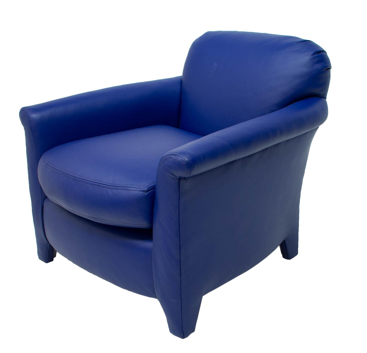 Blue Leather Club Chair Modern Blue Leather Upholstered Club Chair Exciting