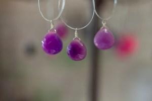 Precious stone necklace design