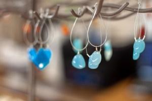 Blue Droplets semi precious gems