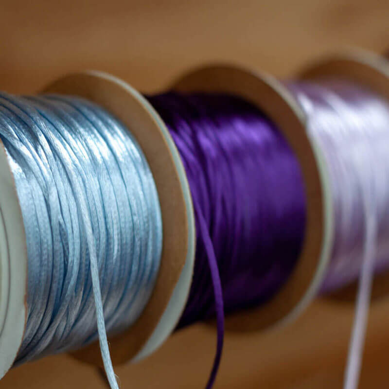 Blue and Purple Silk