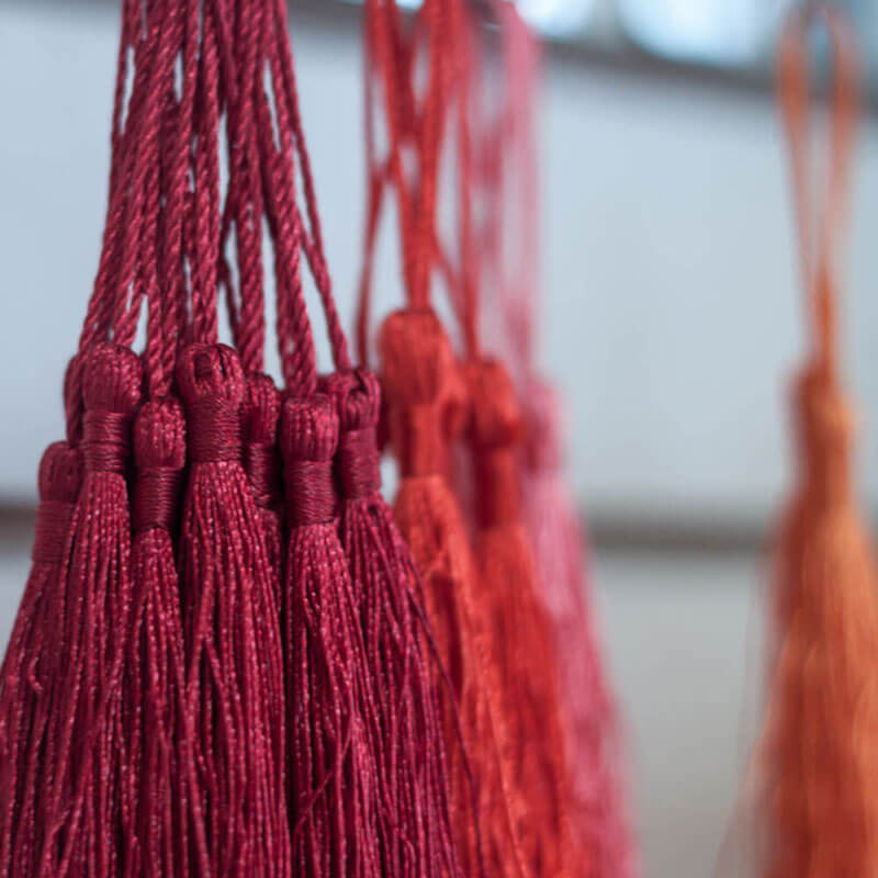 Red Silk Tassels