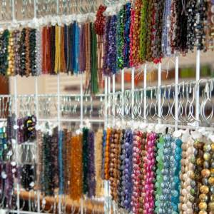 Display of Colorful Beads