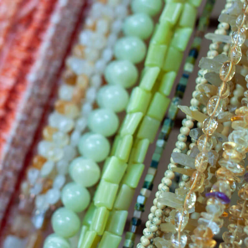 Bead Strands Close-up