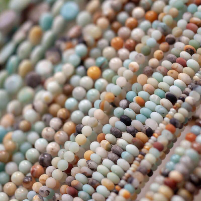 Matte Agate Semi-precious stones
