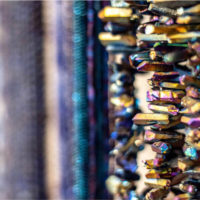 Titanium Quartz Beads Close-up