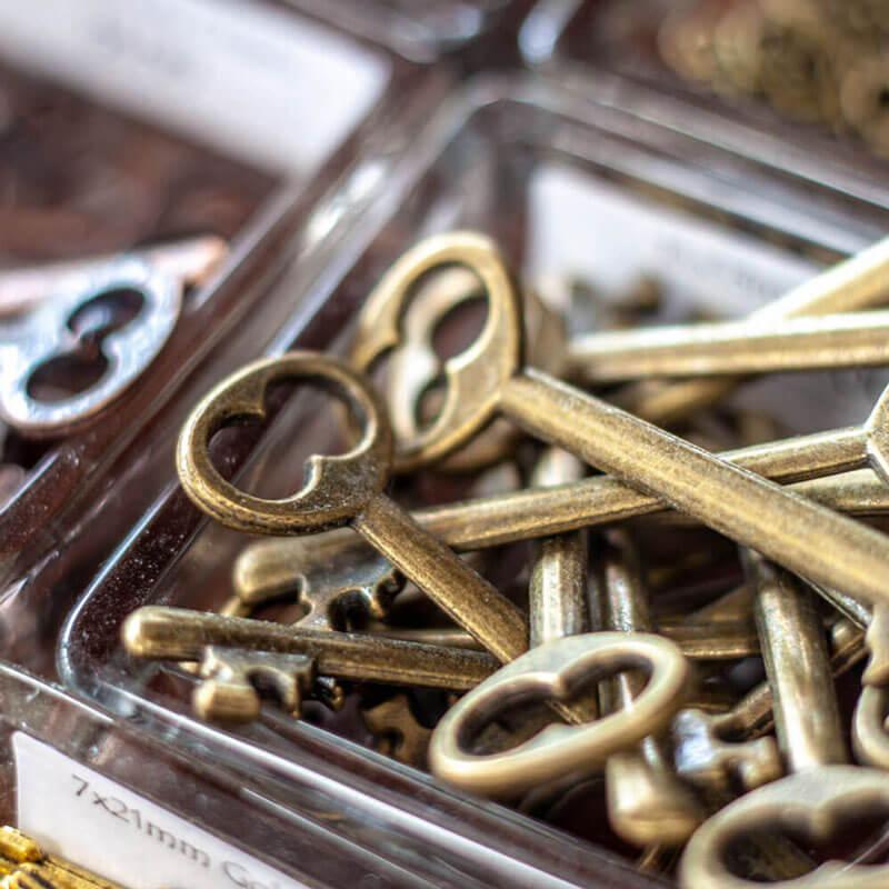 Metal Keys Close-up - Beading Supplies