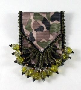 Ribbon Gift Pouch Camo