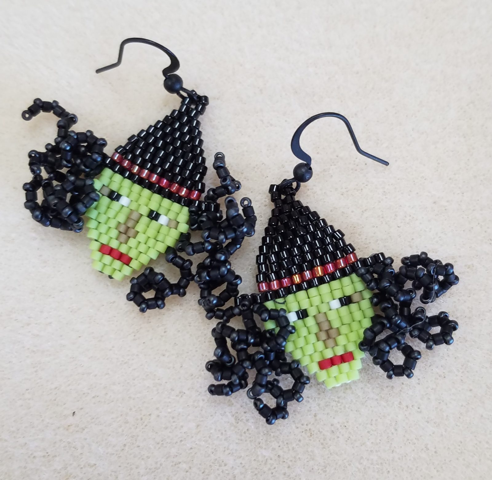 Life's a Witch - Beaded Earrings
