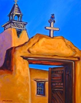 Bluebird of Las Trampas, oil on canvas by Jann Alexander ©2013
