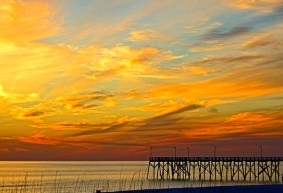 Sunset at the Pier by Jann Alexander © 2013