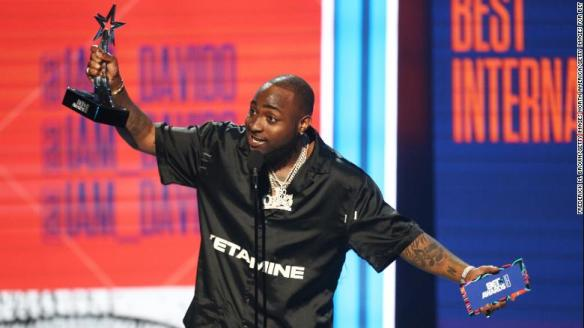 Davido Wins 2018 BET Awards for Best International Act
