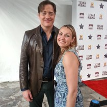 Our very own Angel Johnston met Brendan Fraser tonight at the #TexasHonors ceremony honoring Texas legends and to catch a sneak peek of the mini-series, Texas Rising! #brendanfraser #texasrising #historychannel