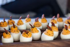 Stella San Jac's Deviled Eggs with bacon