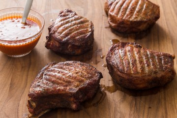 Texas Thick-Cut Smoked Pork Chops Swine