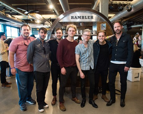 BMI's Mason Hunter, Tim Pattison, Colony House and YETI's Robert Sanchez gather for a photo at YETI's Flagship Store during SXSW on March 15, 2017, in Austin, TX. (Erika Goldring Photo)