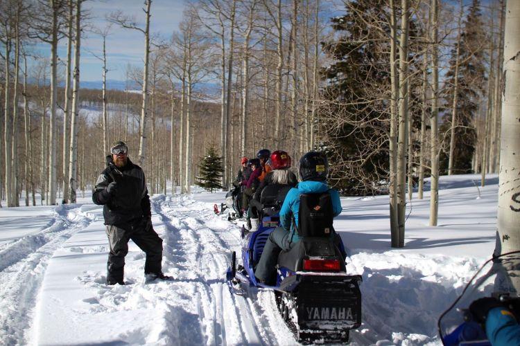 snow mobile tour