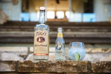 Tito's and tonic at Sage Hill Inn