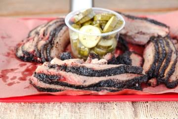La Barbecue Brisket and pickles