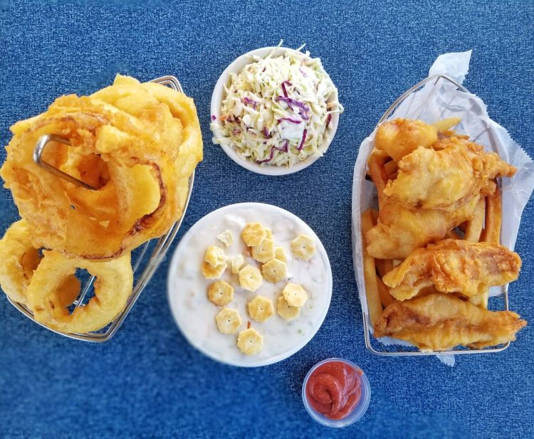 fish and chips from Andria's