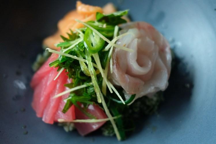Oseyo Hwedup Bap (raw fish over rice)