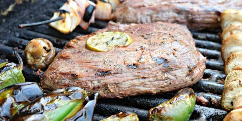 Carne Asada beef flank steak grill A