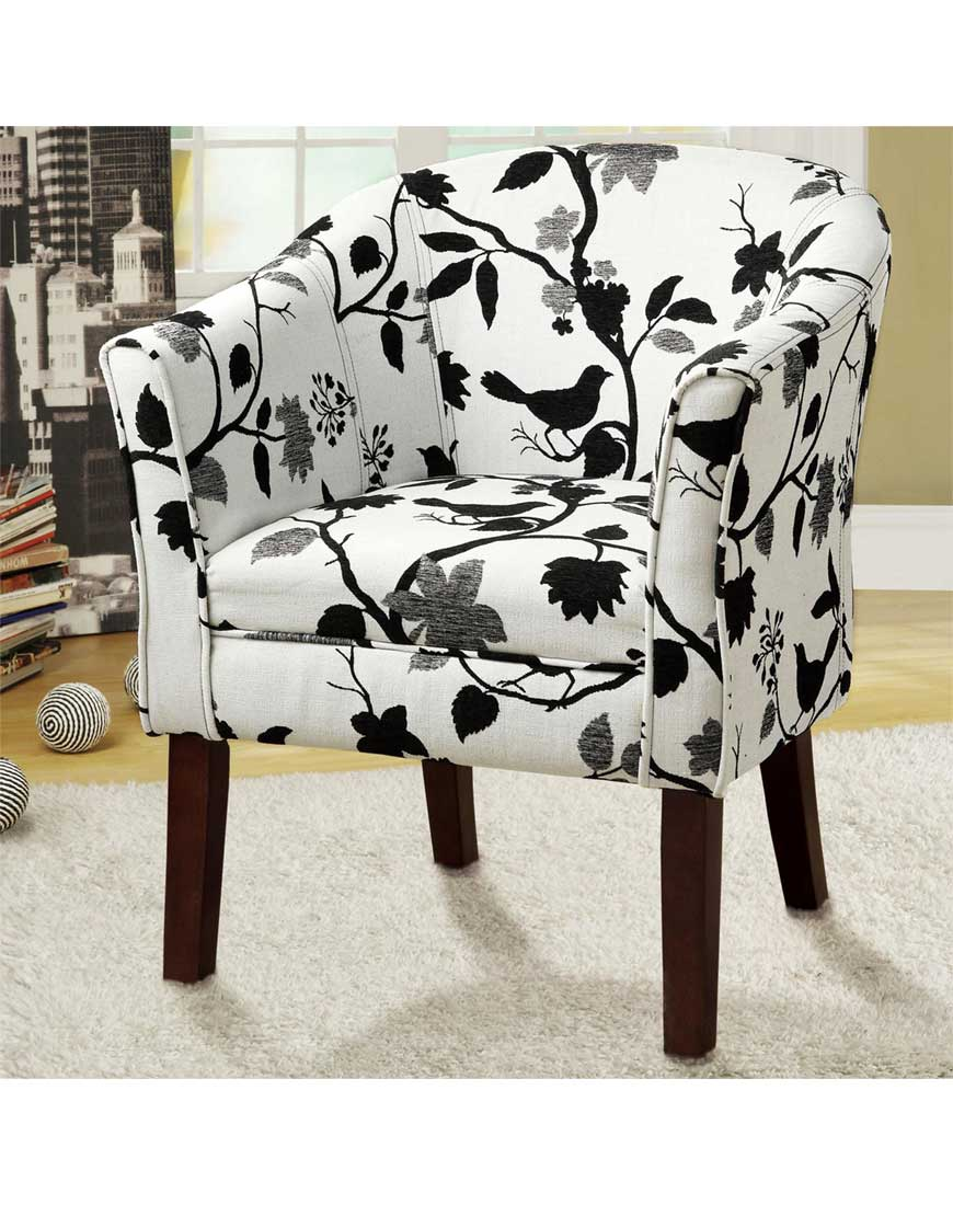 Coaster Accent Chair Coaster Barrel Back Accent Chair