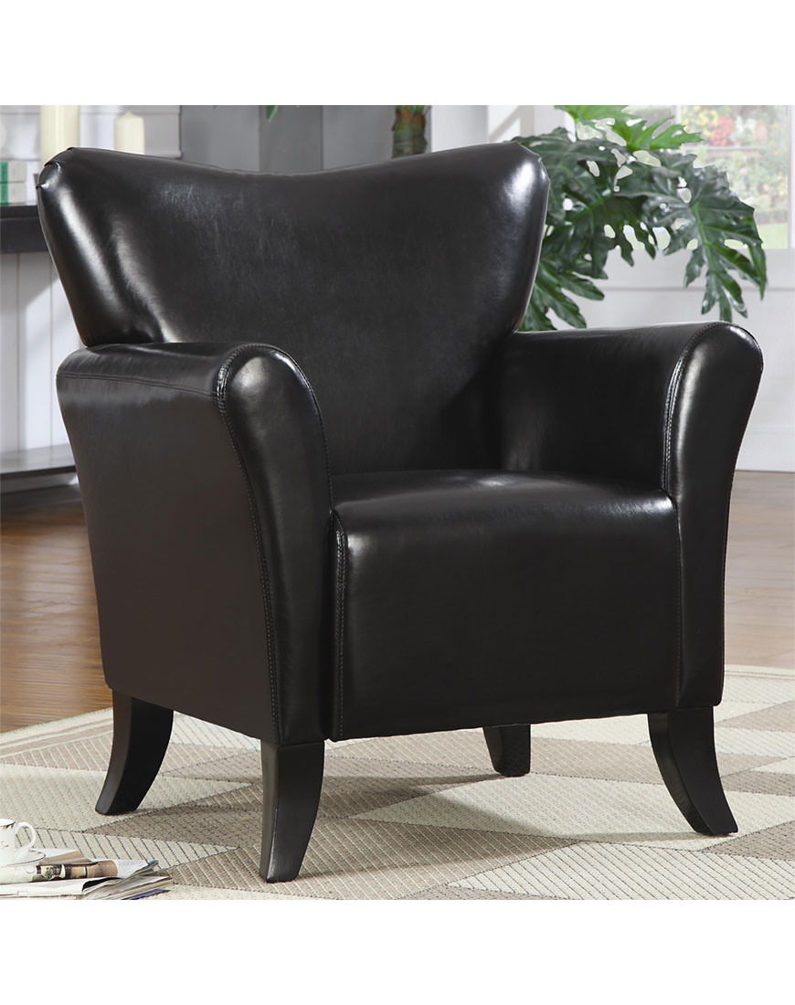 Coaster Accent Chair Coaster Vinyl Accent Chair In Black