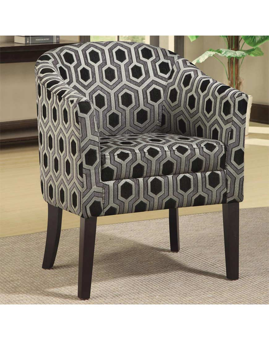 Coaster Accent Chair Coaster Charlotte Hexagon Patterned Accent Chair