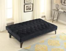 Coaster Transitional Sofa Bed With Velvet Upholstery