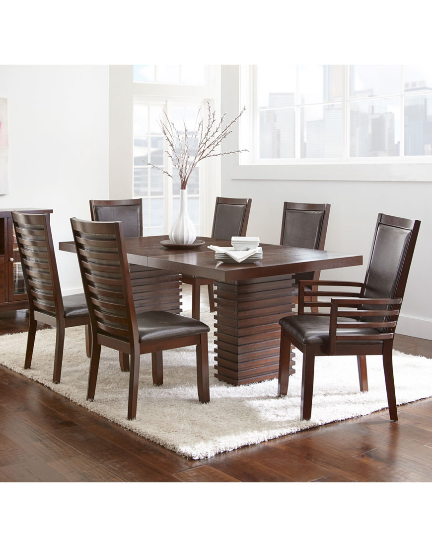 steve silver dining chairs red accent for living room briana 7pc set with austin s