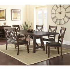 Steve Silver Dining Chairs Where To Make Chair Cushions Clapton 6pc Set With Bench Austin S Furniture