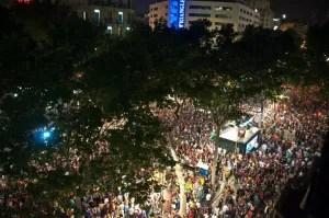 Las Ramblas after Barca's Win