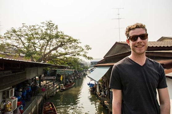 Me in front of the Floating Market