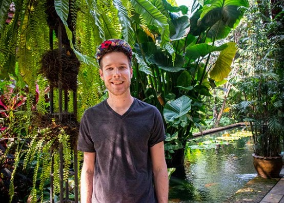 In the Jim Thompson House gardens