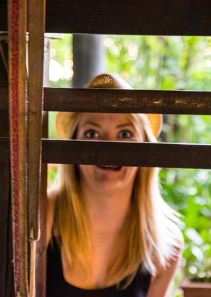 Nicole being weird at the Jim Thompson House