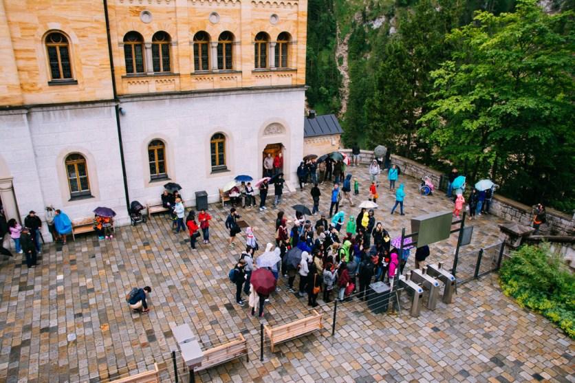 Waiting to visit Neuschwanstein
