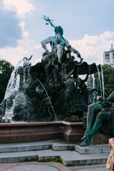 Neptune Fountain, not on Museum Island, but nearby