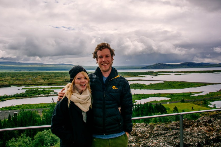 Nicole and I at Þingvellir