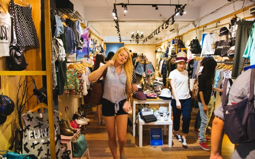 Nicole window shopping