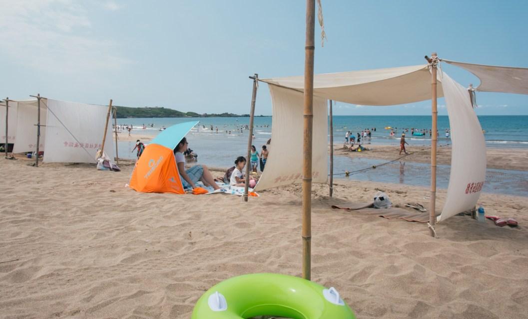 Our beach lean-to