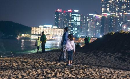 Haeundae Beach at night