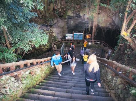 Descending into Manjanggul Cave