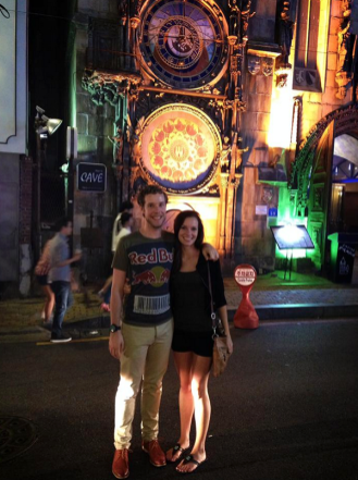 Kiana and I in front of Praha Castle