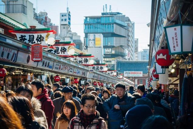 Shopping area in front of Sensoji