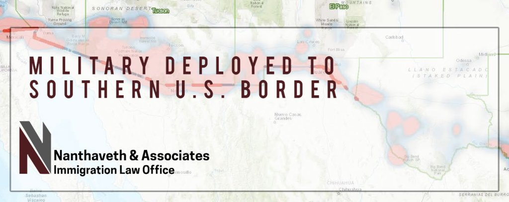 military deployed to southern us border