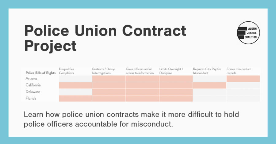 Police Union Contract Project - Learn how Police Union Contracts make it difficult to hold police officers accountable for misconduct.