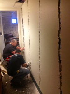 Preparation of wall removal 3